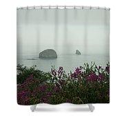 Foggy Viewpoint Shower Curtain