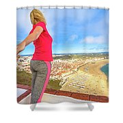 Follow Me In Portugal Shower Curtain