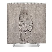 Footprint Shower Curtain