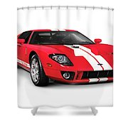 Ford Gt Supercar Shower Curtain