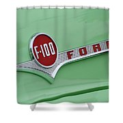 Ford Pickup Details Shower Curtain