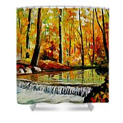 Forest Stream Shower Curtain