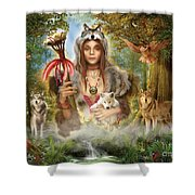 Forest Wolves Shower Curtain