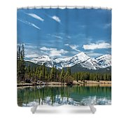 Forgetmenot Pond Shower Curtain