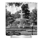 Forsyth Fountain Park Shower Curtain