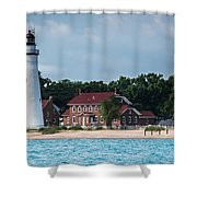 Fort Gratiot Lighthouse Shower Curtain