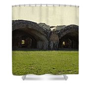 Fort Pickens Arches Shower Curtain