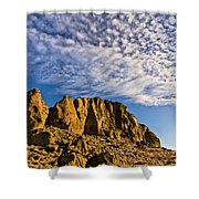 Fort Rock North Wall Shower Curtain