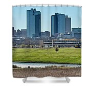Fort Worth Panorama Shower Curtain