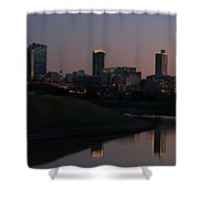 Fort Worth Skyline At Sunset Shower Curtain