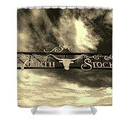 Fort Worth Stockyards District Archway Shower Curtain