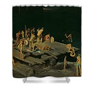 Forty-two Kids Shower Curtain