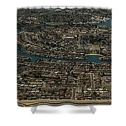 Foster City, California Aerial Photo Shower Curtain