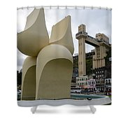 Fountain Of The Market Ramp By Mario Cravo Shower Curtain