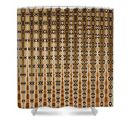 Four Eggplant Abstract Shower Curtain