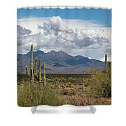 Four Peaks In May Shower Curtain