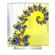 Fractal Seahorse Pattern Shower Curtain