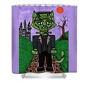 Frankenstein Cat Shower Curtain