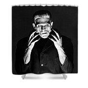 Frankensteins Monster Boris Karloff Shower Curtain