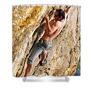 Free Climber Shower Curtain