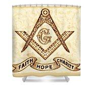 Freemason Symbolism By Pierre Blanchard Shower Curtain