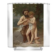 French Lesson Of Flute Shower Curtain