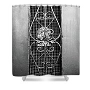 French Quarter Window To The Courtyard - Bw Shower Curtain
