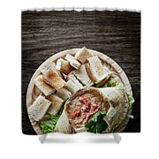 Fresh Crab Seafood Cream Mousse With Toast Tapas Snack Shower Curtain