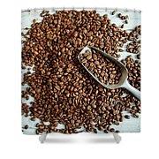 Fresh Roasted Coffe Beans Shower Curtain