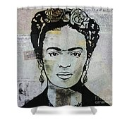 Frida Kahlo Press Shower Curtain