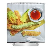 Fried Shrimps Tempura Shower Curtain