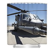 Front View Of A Hh-60g Pave Hawk Shower Curtain
