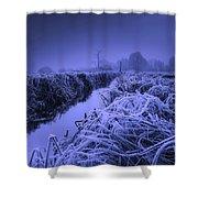 Frosty Field Shower Curtain