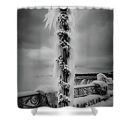 Frozen Over Niagara Falls Shower Curtain