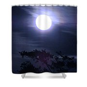 Full Moon Falling Shower Curtain
