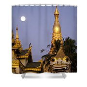 Full Moon In Burma Shower Curtain