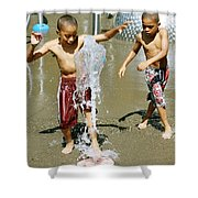 Fun With Water. Shower Curtain
