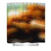 Fungus Tendrils Shower Curtain