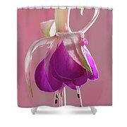 Fuschia Petals Shower Curtain