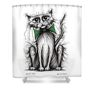 Fuzzy Cat Shower Curtain