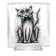 Fuzzy Cat Shower Curtain