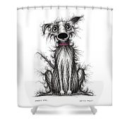 Fuzzy Dog Shower Curtain