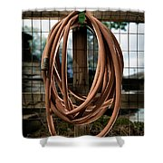 Garden Hose Shower Curtain