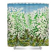 Garden In Blossom Shower Curtain