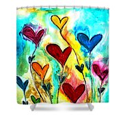 Garden Of Love Shower Curtain