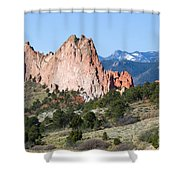 Garden Of The Gods Park In Colorado Springs In The Morning Shower Curtain