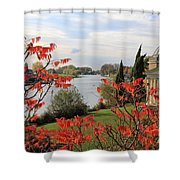 Garrick Temple On The River Thames At Hampton Shower Curtain