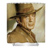 Gary Cooper, Vintage Actor Shower Curtain
