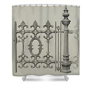 Gate And Gatepost Shower Curtain