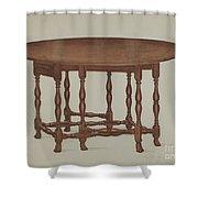 Gate-legged Table Shower Curtain